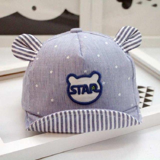 Baby Summer Mesh Cotton Striped Baseball Cap Breathable Soft Eaves Beret Sun Hat