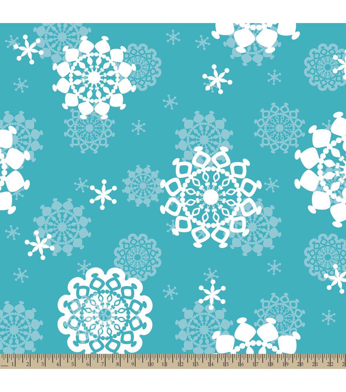Antipill fleece fabricsnowflakes fabrics
