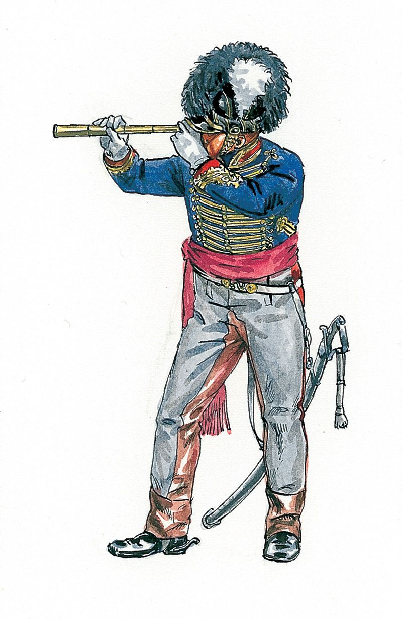 Uniform Royal Horse Artillery High Resolution Stock
