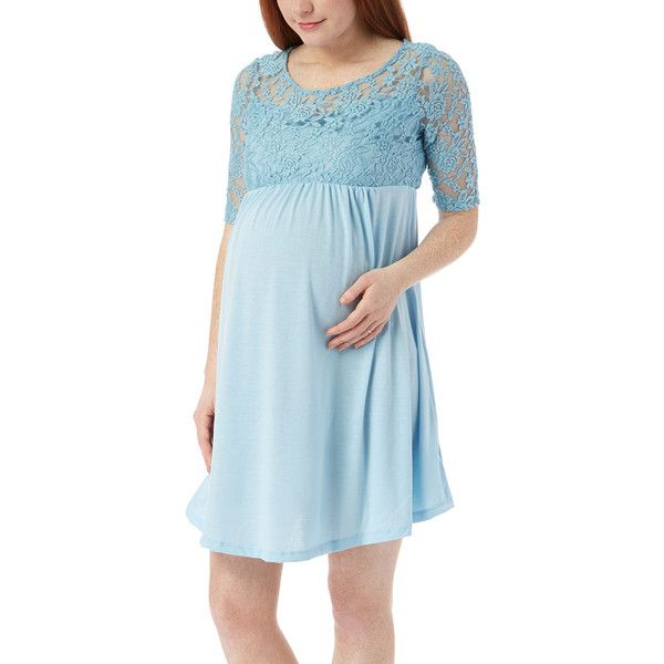 Light Blue Scoop Neck Dress