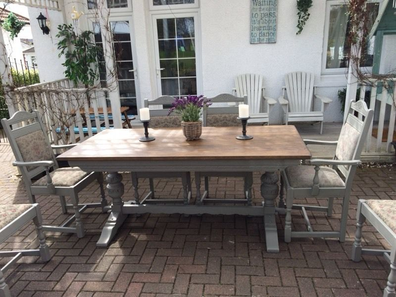 Old Charm Vintage Dining Table U0026 6 Chairs | Glasgow | Gumtree