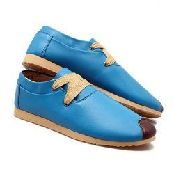 88bef8ca51f7 Laconic Men's Casual Shoes With Color Block Lace Up Design (BLUE,43) China  Wholesale - Sammydress.com