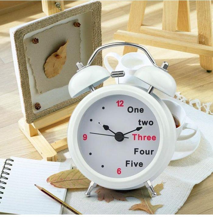 English Digital Double Bell Alarm Clock Clock