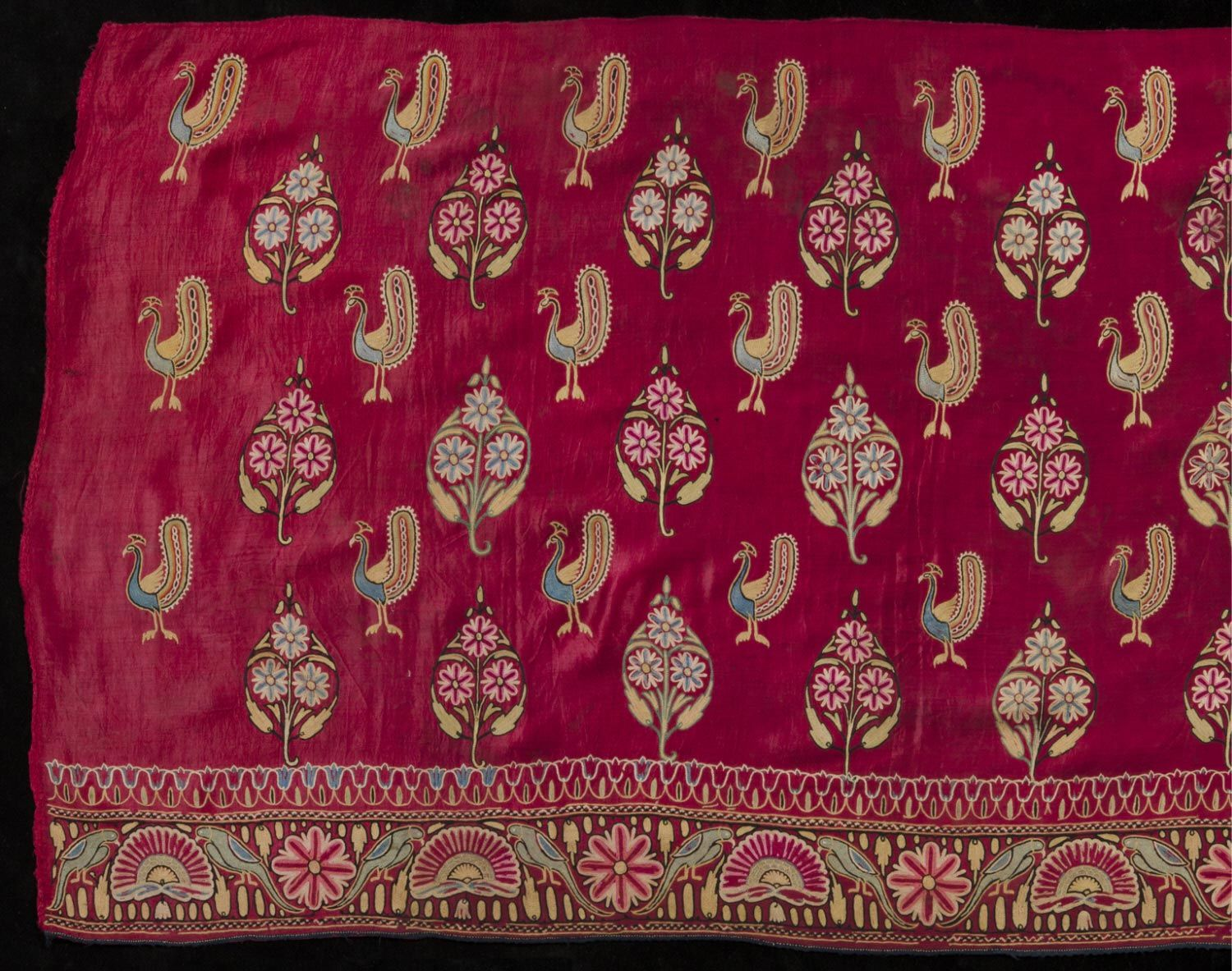 Embroidered Textile Made in Gujarat, India 19th century 7