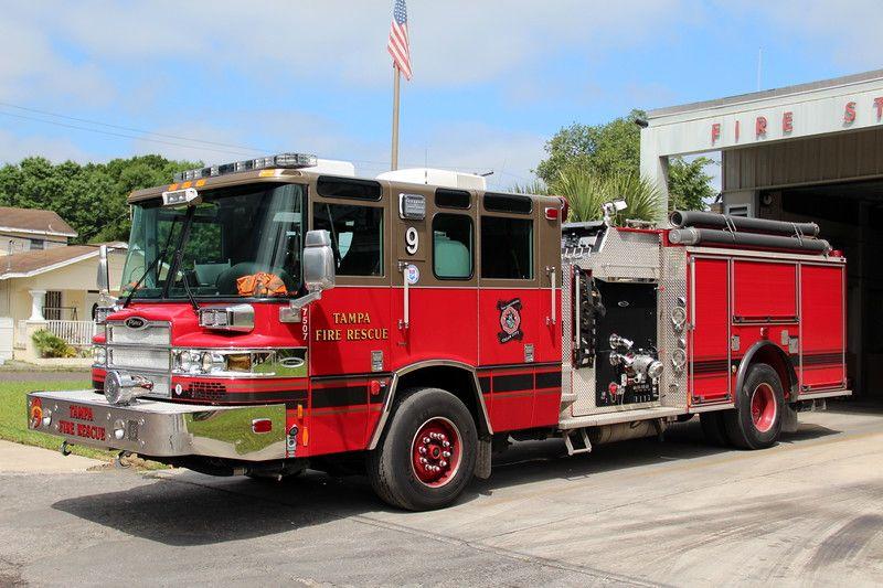 Tampa Engine 9 in 2020 Tampa, Fire trucks, Fire rescue