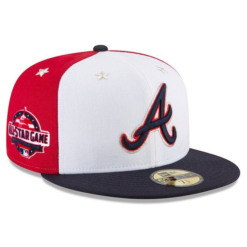 Men/'s Atlanta Braves New Era Navy Road On-Field 59FIFTY Fittted Hat