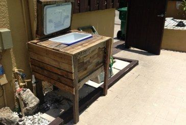 Rustic Cooler Upcycle