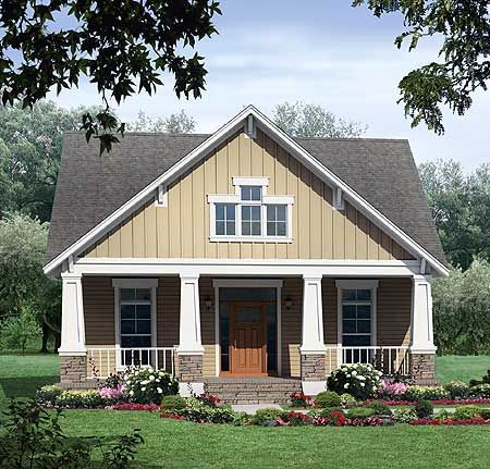 Plan 51042mm tidy craftsman home plan craftsman cottage for Usda approved builders