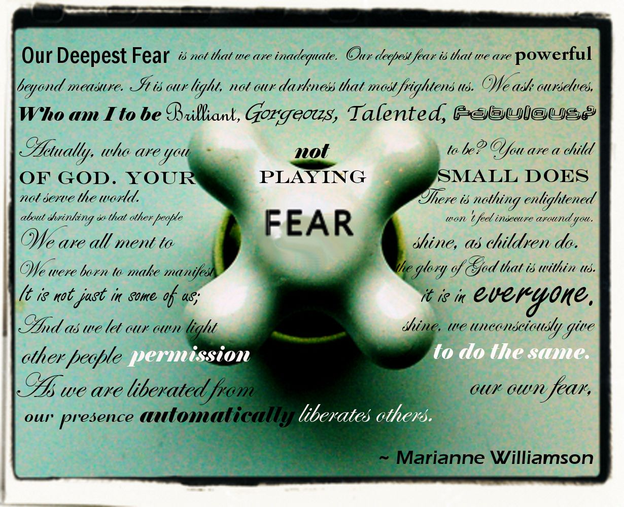 A Return To Love Quotes Our Deepest Fear  Marianne Williamson  My Big Girl Life