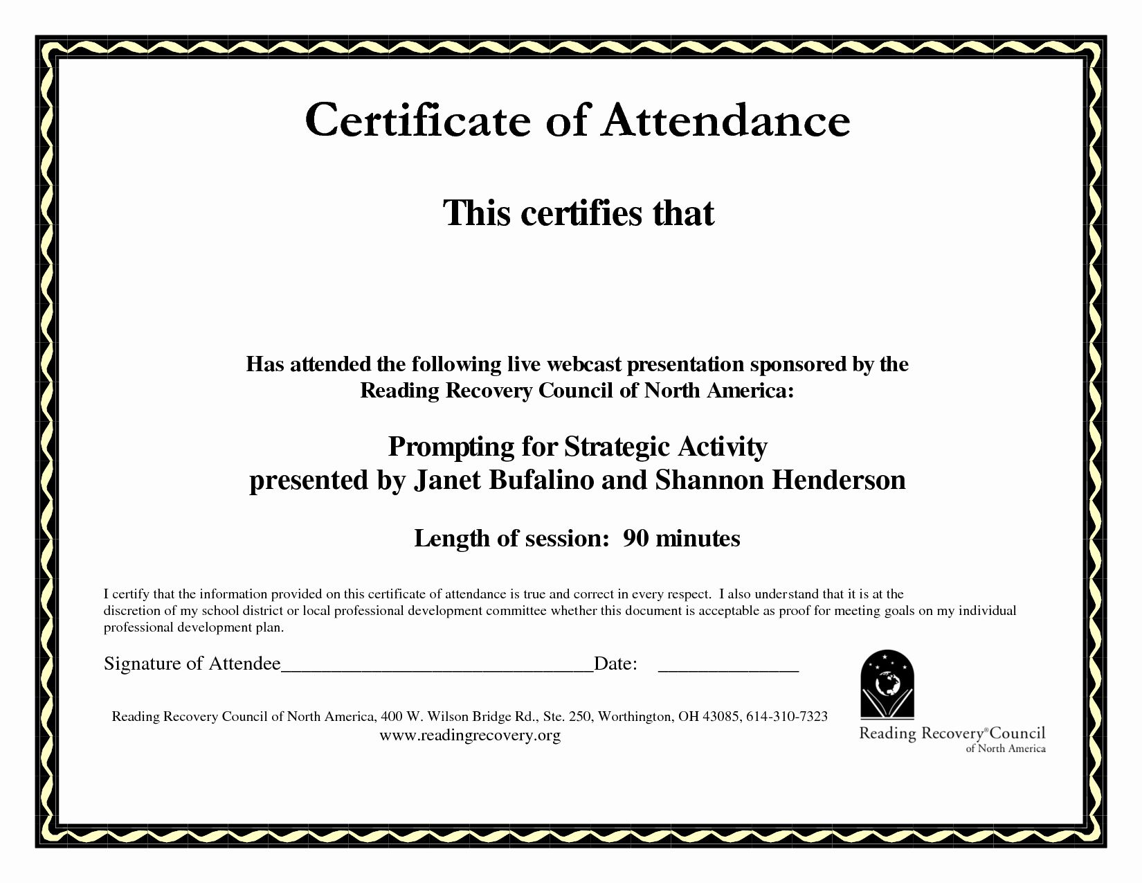 The Enchanting 30 Perfect Attendance Certificate Editable