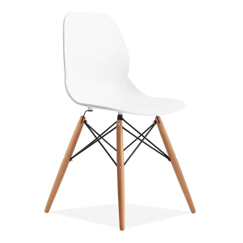 Eames Inspired Chaise Eiffel Contemporaine Blanche Deco