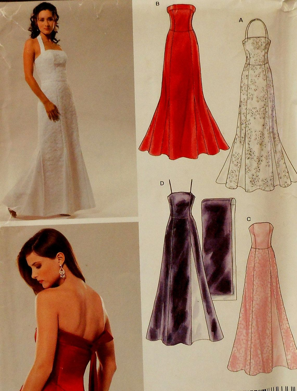 Strapless Gown Sewing Pattern Wedding dress sewing