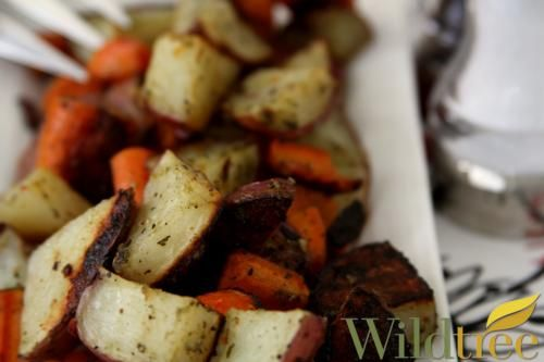 Wildtree's Oven Roasted Veggies Recipe  Basil Pesto Grapeseed oil and Italian seasoning mix