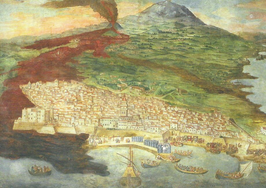 Immagine di https://upload.wikimedia.org/wikipedia/commons/6/6b/Etna_eruzione_1669_platania.jpg.