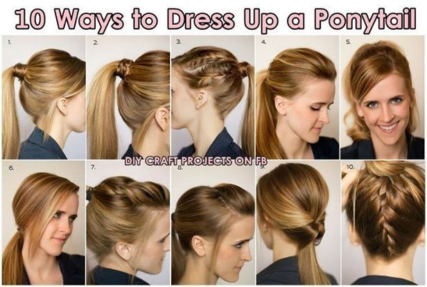 10 Ways To Dress Up A Ponytail Hair Hair Beauty Pretty Hairstyles