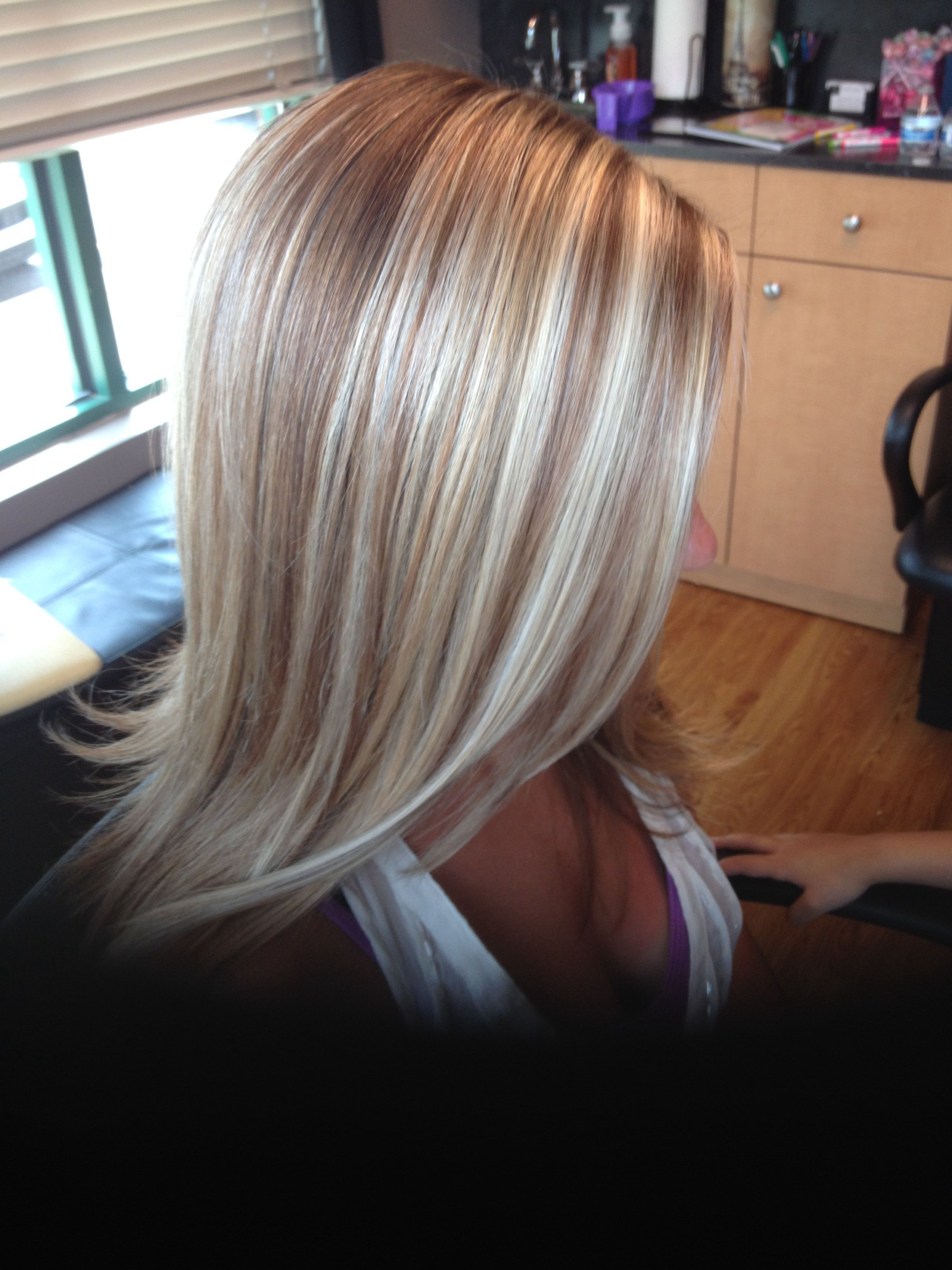 Blonde Highlights And Low Lights Haare Frisuren Und Farbe