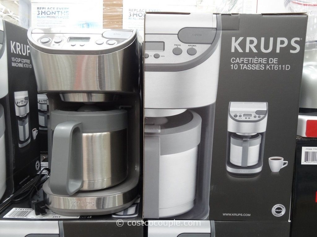 Coffee maker with grinder and thermal carafe - Coffee Makers Costco Exciting Krups Thermal Coffee Makers Costco