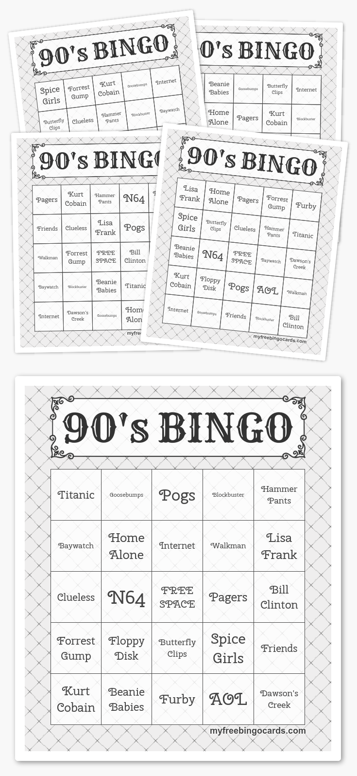 Free Printable Bingo Cards | Harry potter party games ...