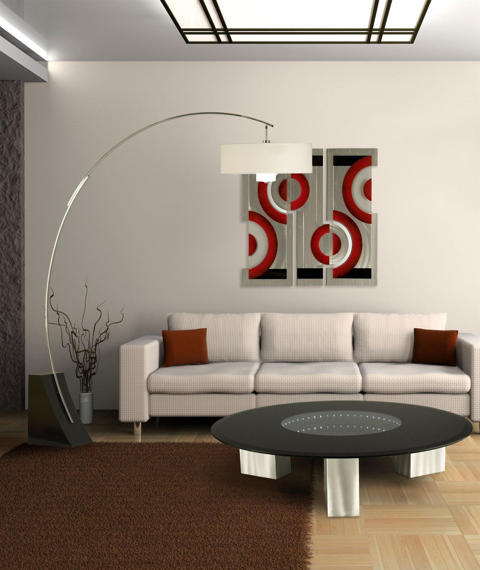 Tall lamps in living room - Modern