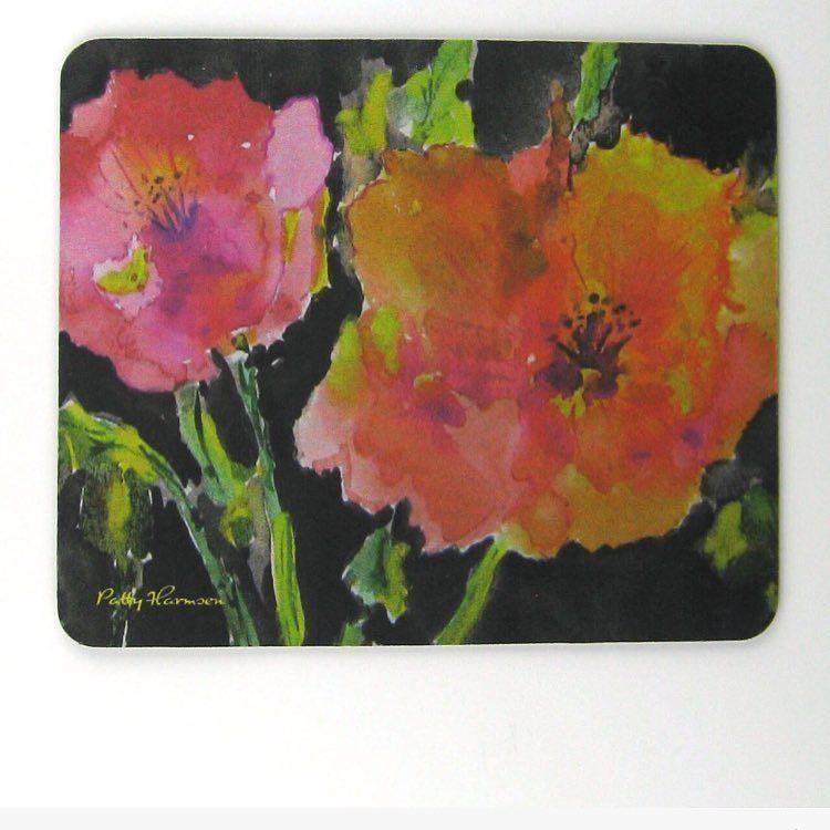 Midnight Bloom Mouse Pad  http://ift.tt/1lSEVpR #watercolorpainting #watercolorflowers #computerart #bahai #bahaifaith #decor by pattysgardenstudio