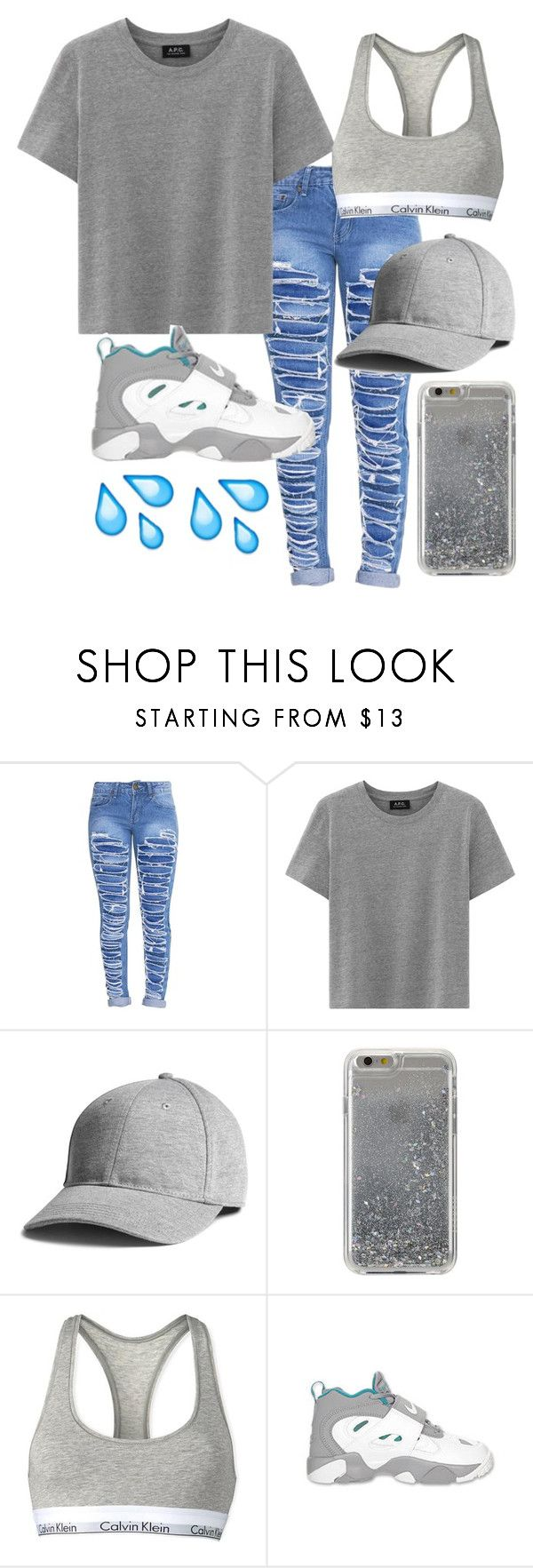 """""""Untitled #100"""" by bxbysnoop ❤ liked on Polyvore featuring Agent 18, Calvin Klein and NIKE"""