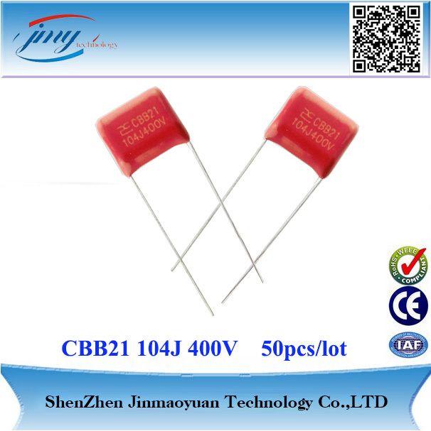 Aliexpress Com Compre O Envio Gratuito De 50 Pcs Lote 104j 400 V 0 1 Uf P 10 Mm Cbb Filme De Polipropileno Metal Electronics Components Capacitors Capacitor