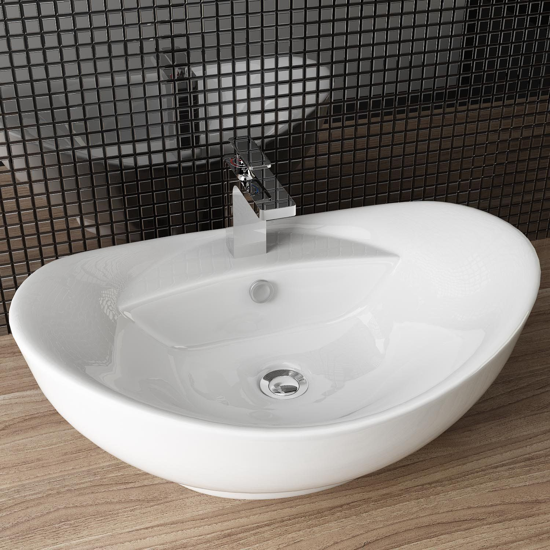 Design Keramik Waschtisch Aufsatz Waschbecken Waschplatz Fur Badezimmer Gaste Wc A82 Amazon De Baumarkt Gaste Wc Waschbecken Waschtisch