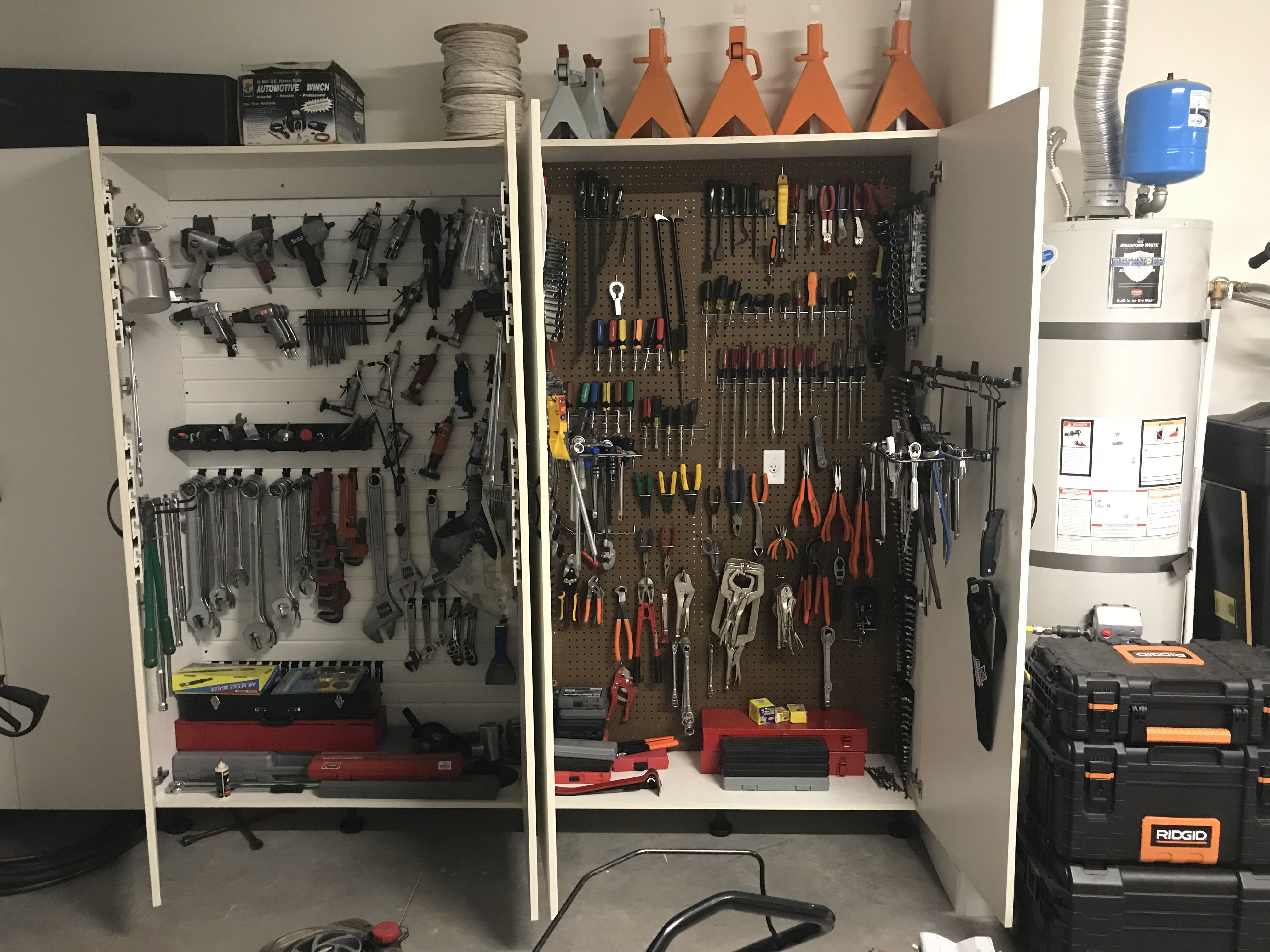 Garage Cabinets By George My Organized Tool Cabinets By Closet Creations St George Ut