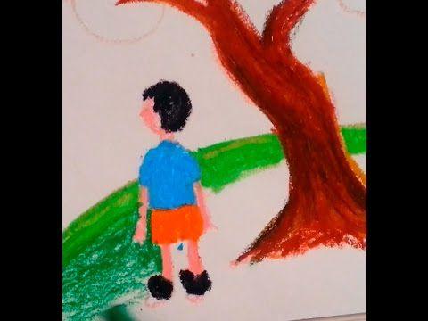 Manzara Cocuk Pastel Boya Calismasi Sanatin Renkleri Resim