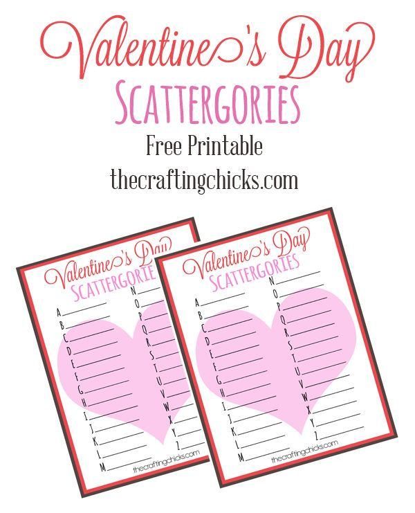 We Ve Shared These Fun Printable Tergories This Year And Are Excited To Share Our Valentine S Day Version A Great For Those Cl