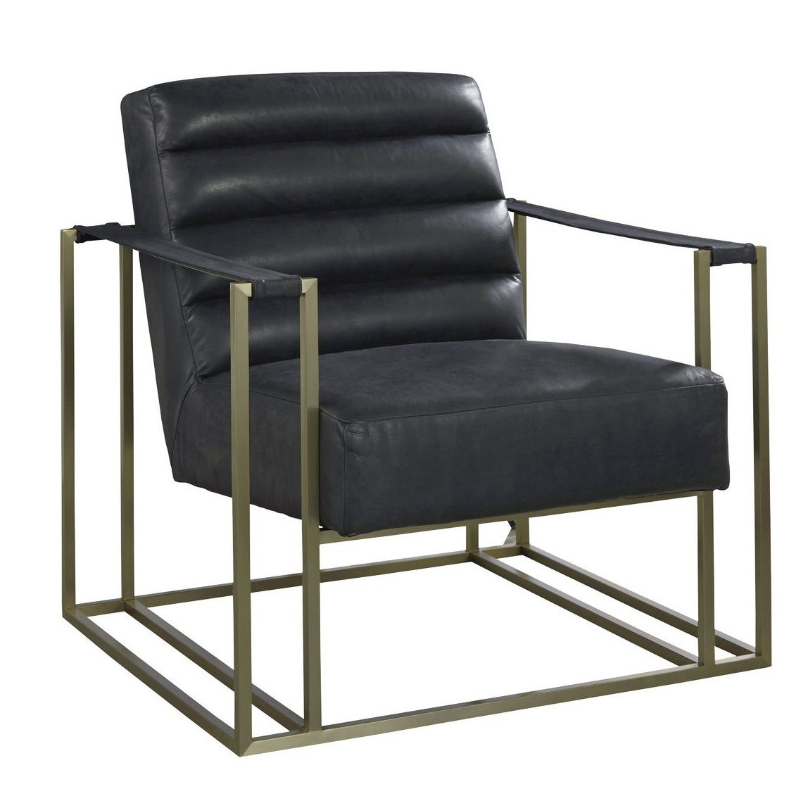 Jensen Modern Black Leather Club Chair Modern Leather Chair Mid