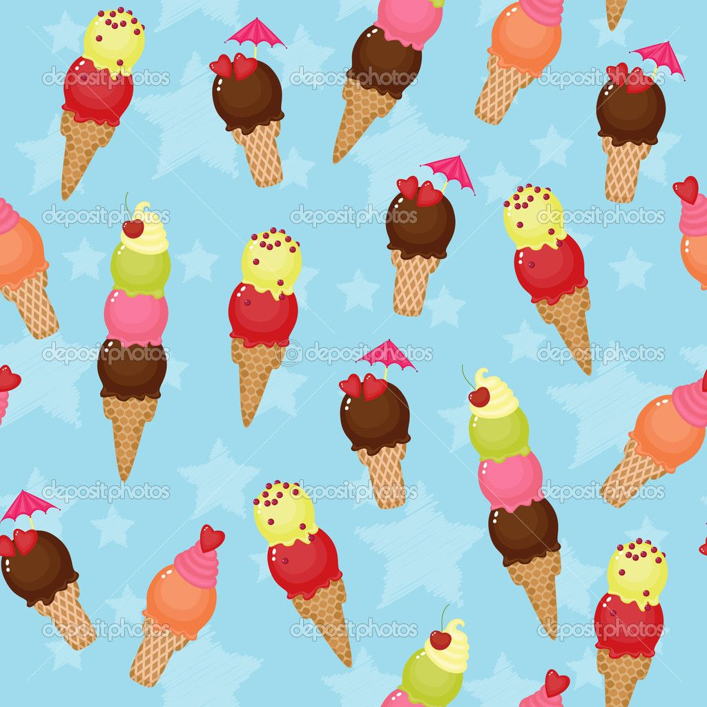 Ice Cream Images Ice Creams Wallpaper And Background: Seamless Ice Cream Background