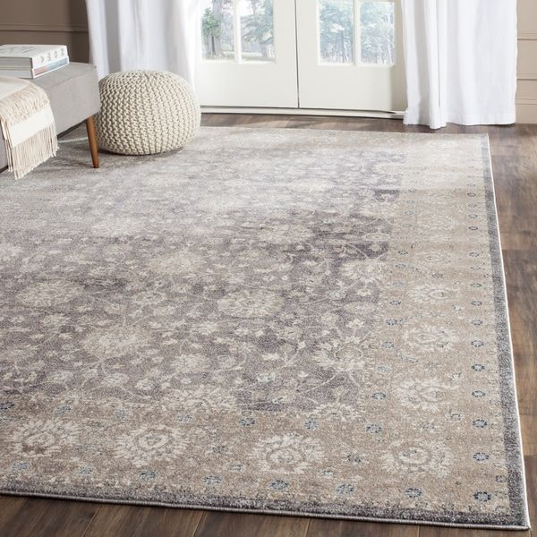Safavieh Sofia Vintage Oriental Light Grey Beige Distressed Rug 8 X 10 Sof330b 810 Lights And Room