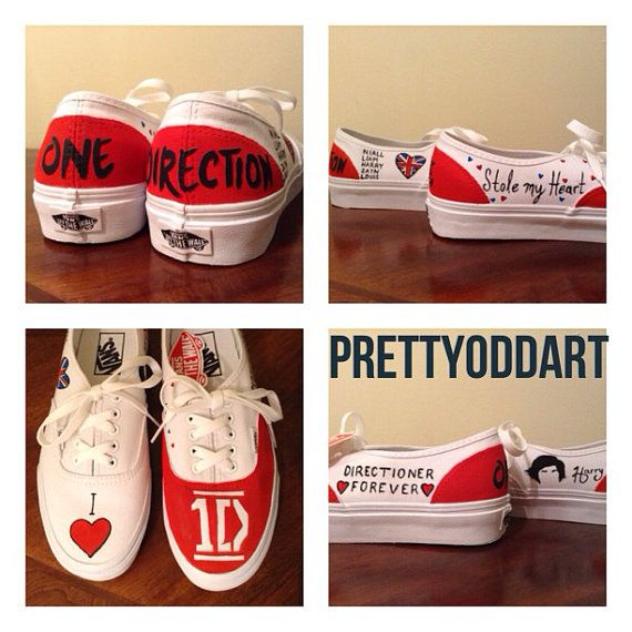 one direction chaussures vans