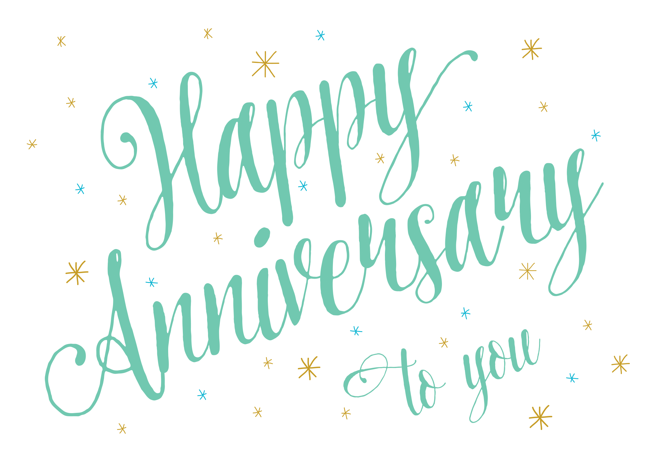 Anniversary Script Free Printable Anniversary Card