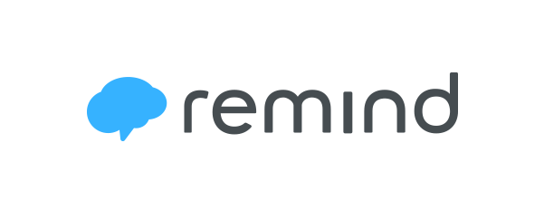 Remind Logo. The icon speech bubble/cloud is drawn to look like a brain.  Simple and effective. -MD | Logos, Student activities, How to introduce  yourself