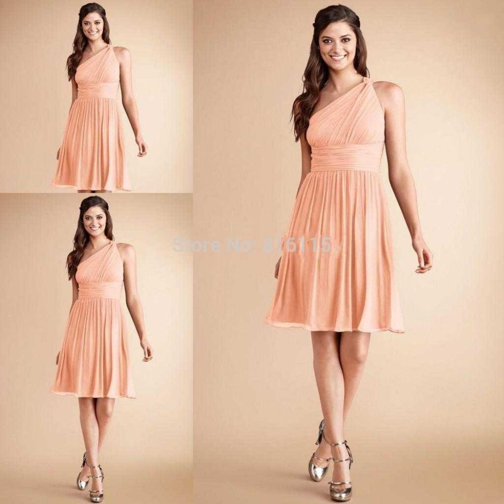 Short long form peach bridesmaid dresses bridal pinterest short long form peach bridesmaid dresses ombrellifo Images