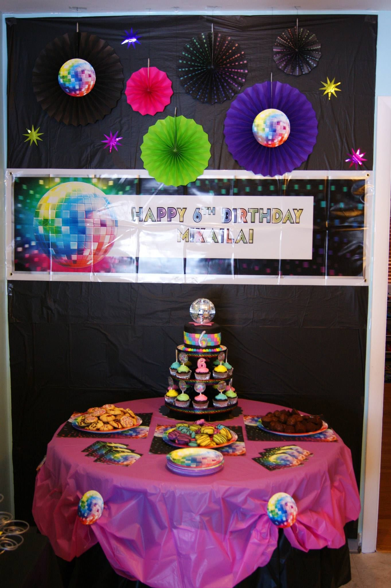 Just Dance (Disco) Party Cake Table