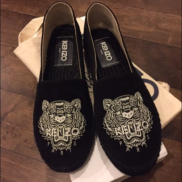 KENZO black tiger embroidered
