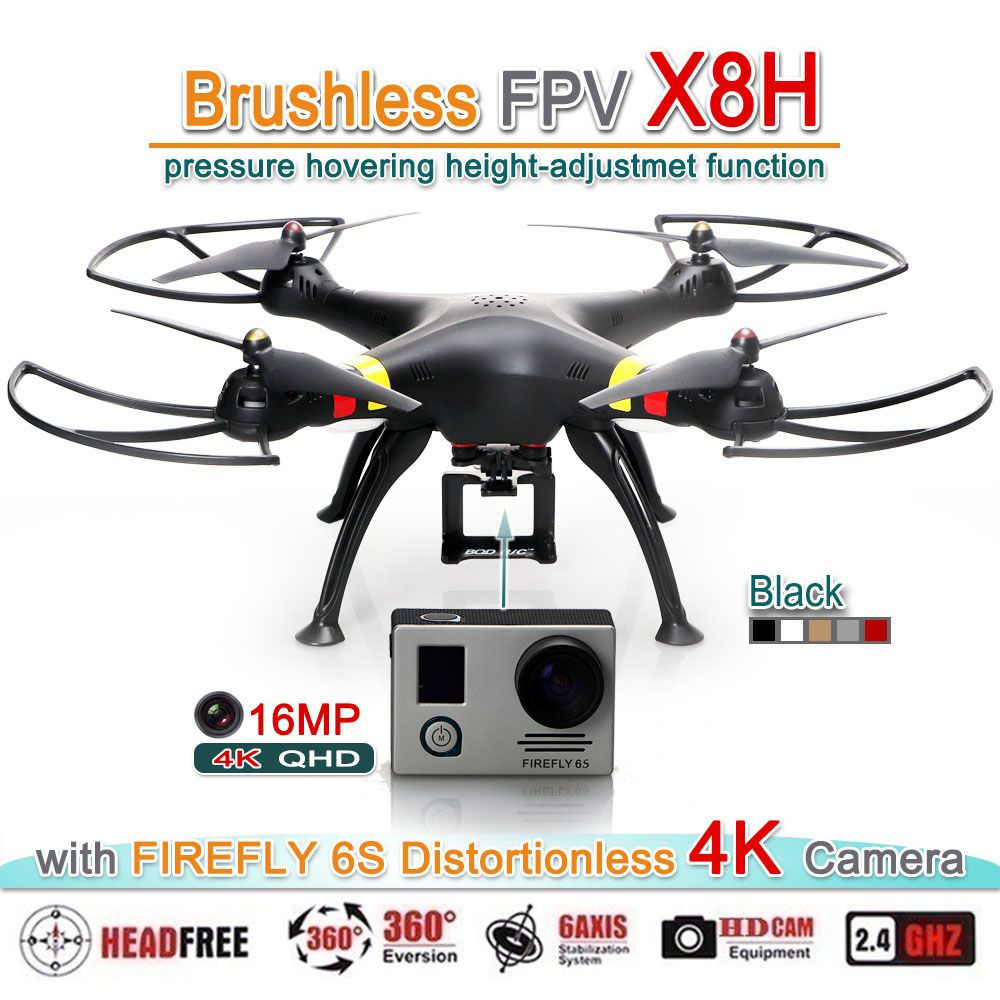 FZWRC X8H Brushless Motor RC FPV Quadcopter Drone Helicopter Upgraded By SYMA X8C W G HW With