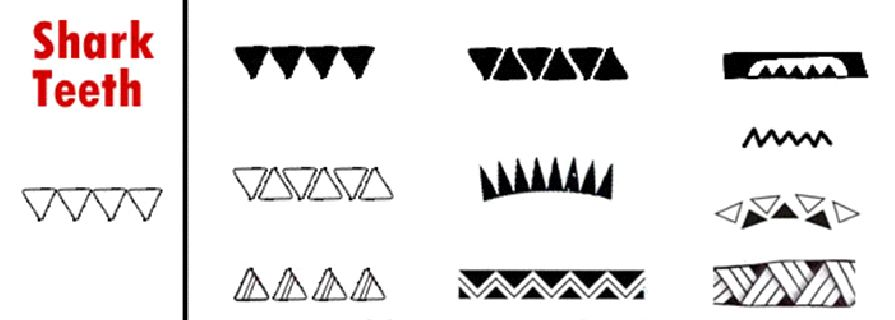 Polynesian Tattoo Symbols Meanings Shark Teeth Art Ish Things