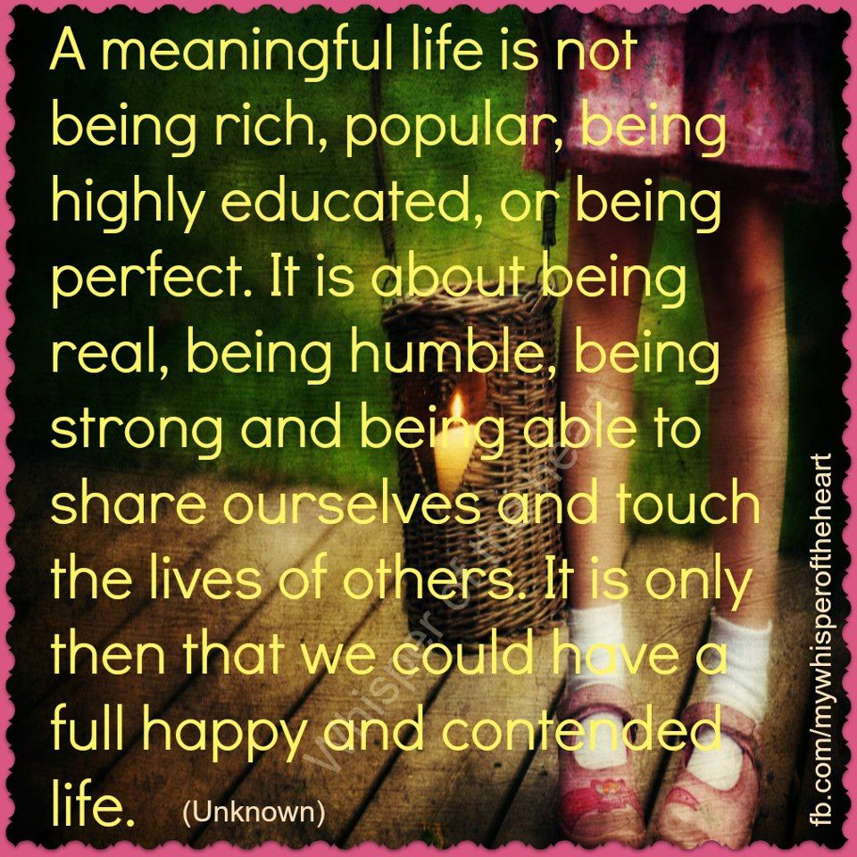 Meaningful Life Quotes A Meaningful Life Is Not Being Rich Popular Being Highly