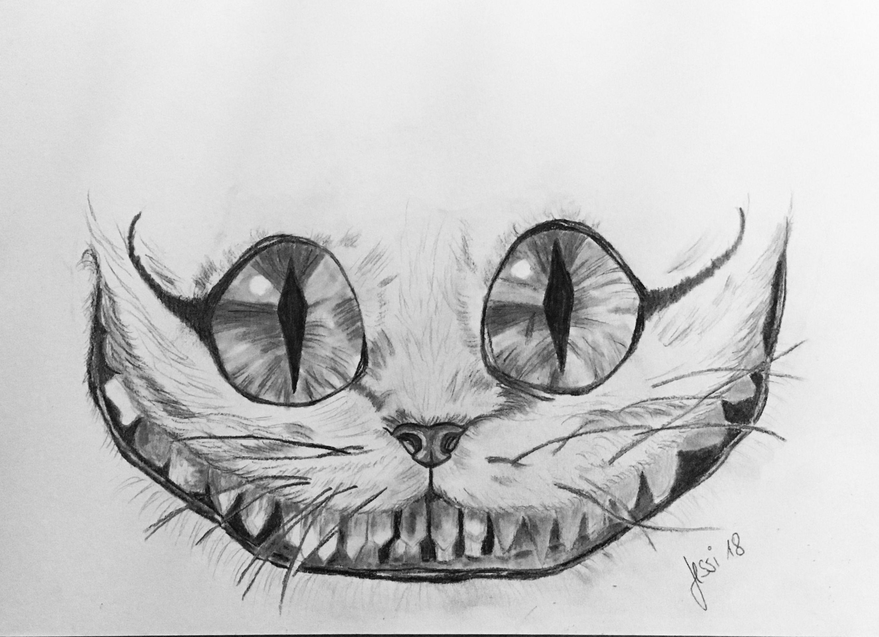 Grinsekatze Alice In Wonderland Drawings Love Art Art Drawings