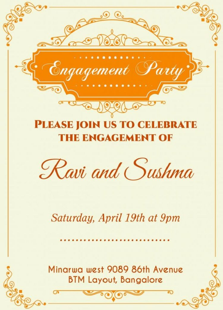 Engagement Party Invitations Ideas Engagement Invitation