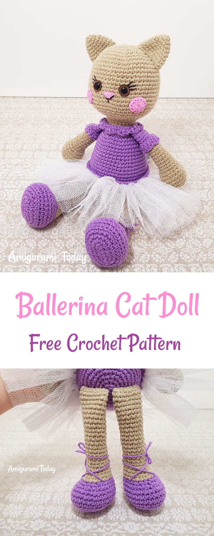 This ballerina cat doll crochet pattern will help you to make a knit crochet bankloansurffo Image collections
