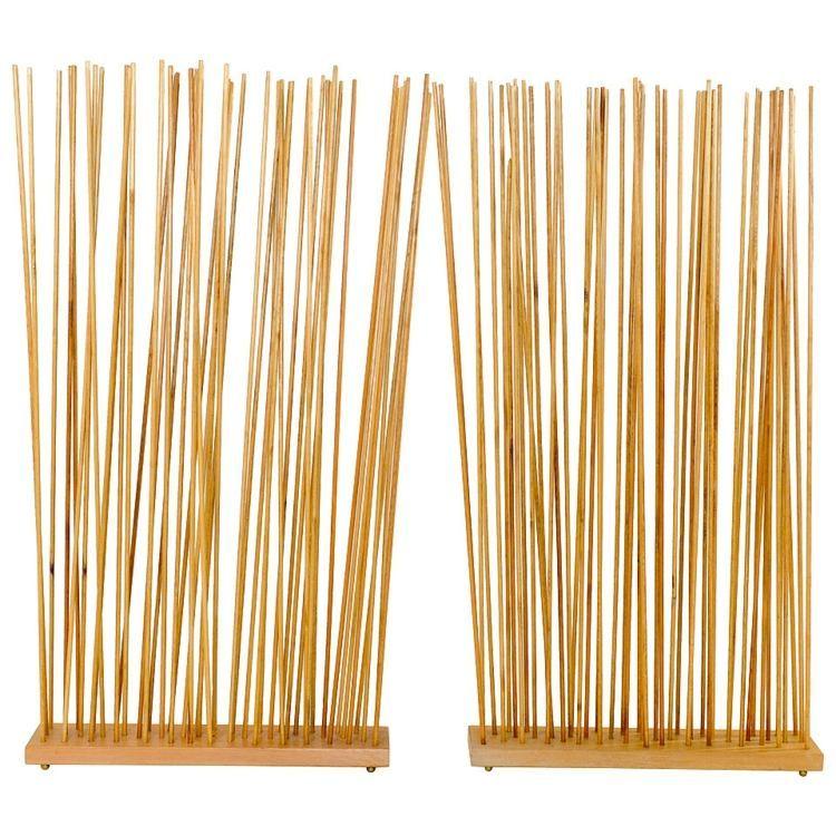 Exotischer Raumtrenner Aus Bambus Stöcken Garden Garten Pinterest
