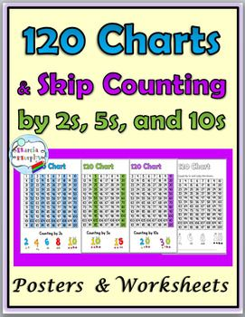 photograph about Printable 120 Chart referred to as Miss Counting Worksheets and Posters Pass up Counting via 2s