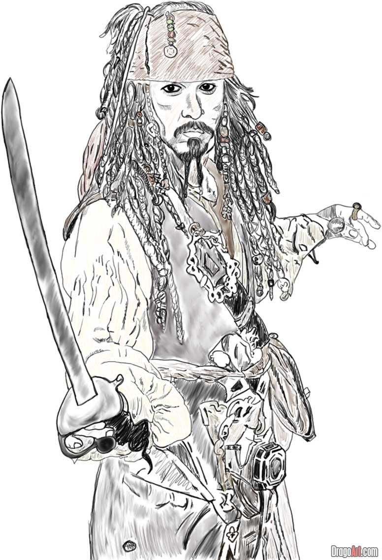 Pirate Ship Drawing Template How To Draw Johnny Depp As Jack Sparrow The Pirate Jack Sparrow Jack Sparrow Drawing Johnny Depp