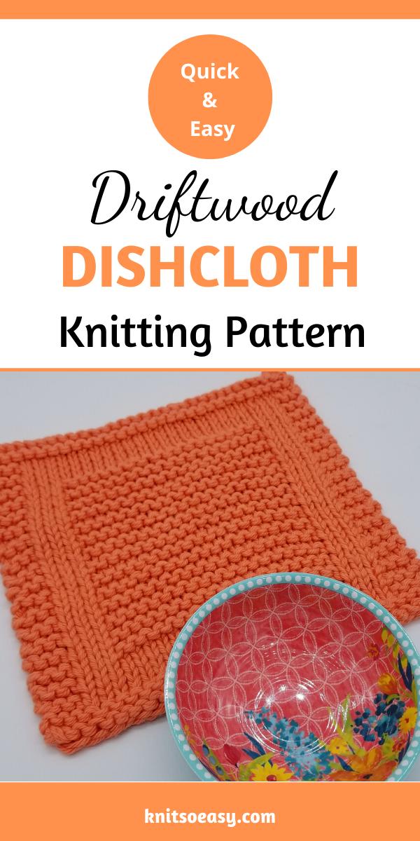 Driftwood Dishcloth Knitting Pattern in 2020 | Dishcloth ...