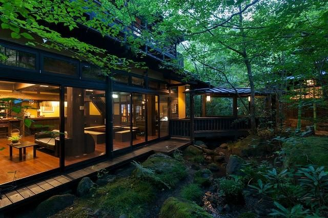 Alojamiento tradicional japonés.